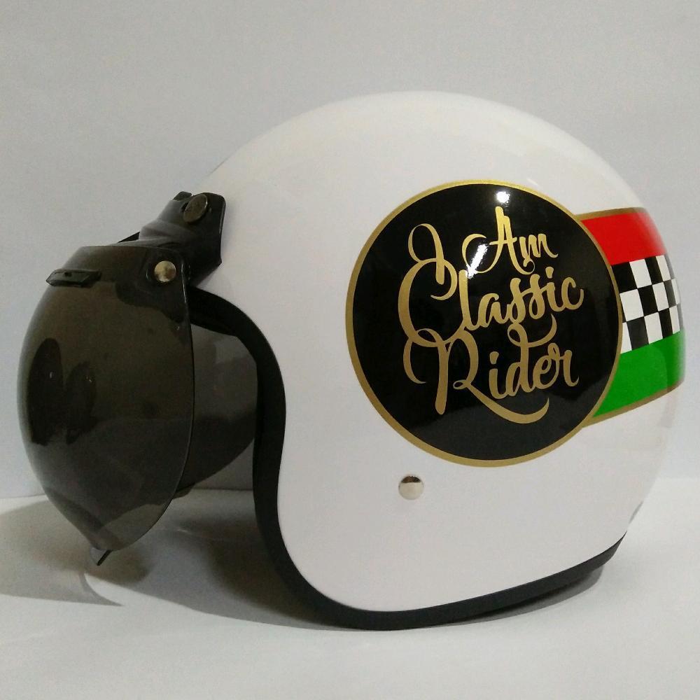Helm Retro Classic Helm Bogo Vespa Classic Rider di lapak vale46_helmet uniequrro_