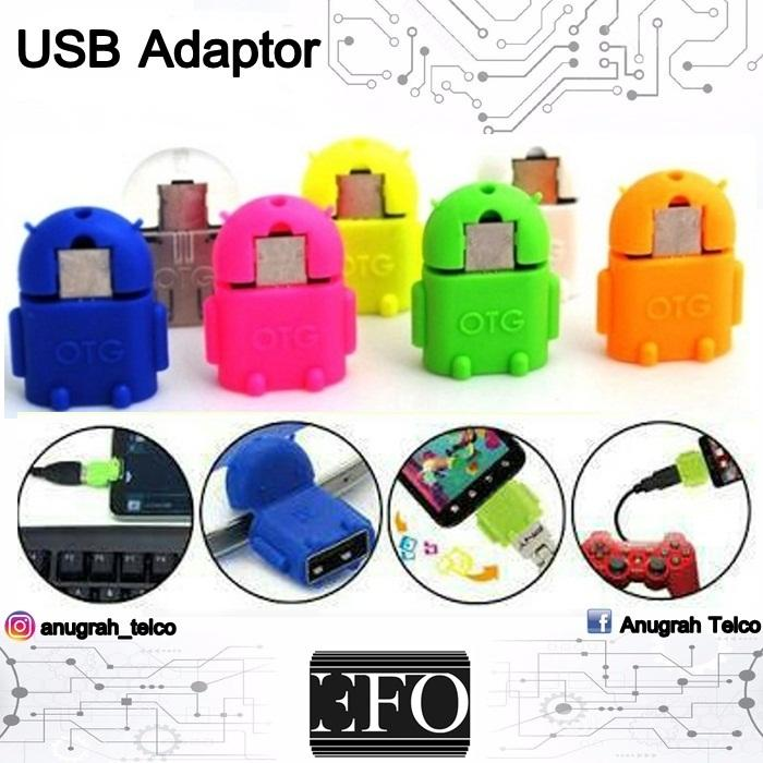 USB OTG Robot Adapter Android Connector Micro USB Smart Phone OTG Mini Non Kabel