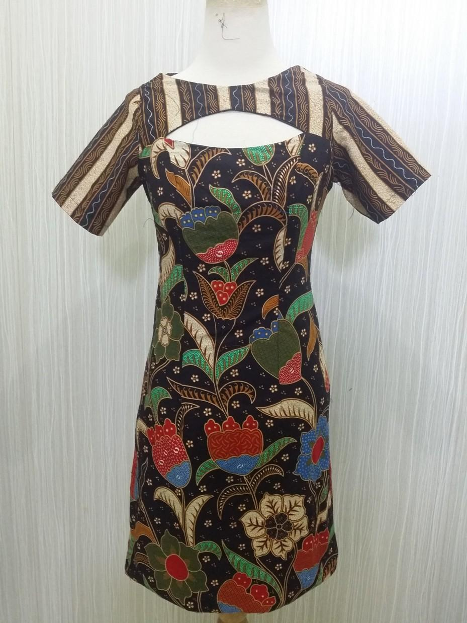 Batik Wanita Modern Bahan Katun Dress Batik Modern TULIP MERAH RR1874 by  Arcobaleno Produsen Dress Batik b77a105c1e