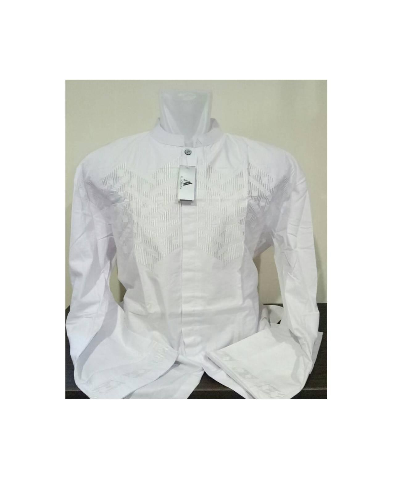 ... Baju Koko Pakaian Muslim Lengan Panjang BigSize XXL XXXL XXXXL Putih