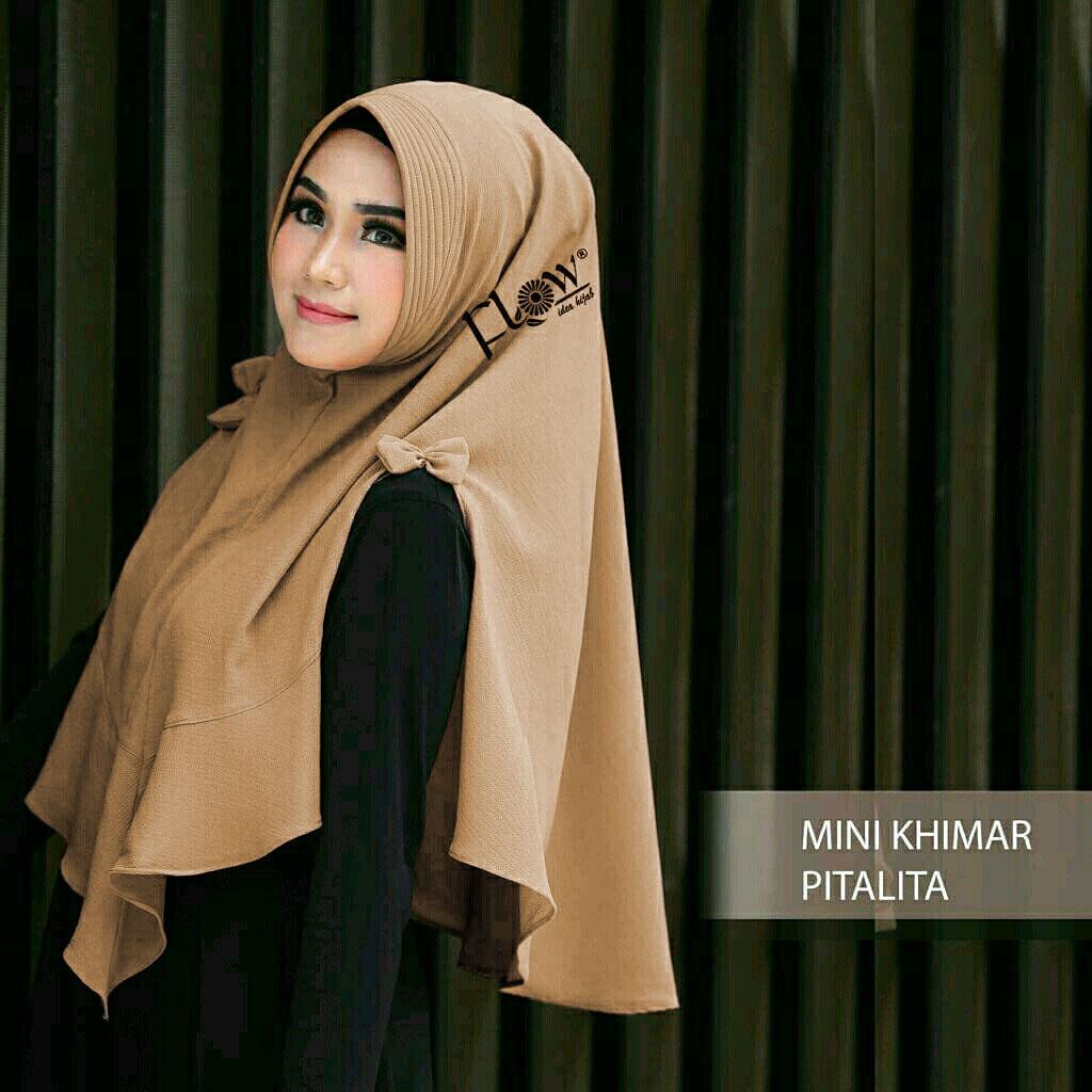 Mini Khimar Pita Lita Coksus / Jilbab / Jilbab Syari / Hijab Fashion / Khimar / Hijab Tutorial / Hijab Instan / Jilbab Grosir