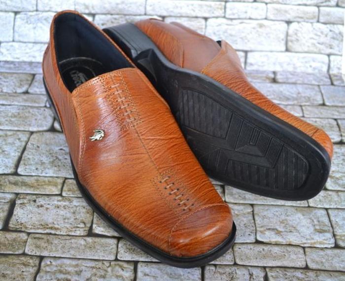 Sepatu Formal Crocodile CC327 Kulit Asli - Sepatu Pantofel - Sepatu Pria Cool And Calm