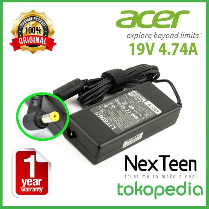 Terbaru! Original Garansi 1 Tahun Adaptor Charger Laptop Acer 19V 4.74A - ready stock