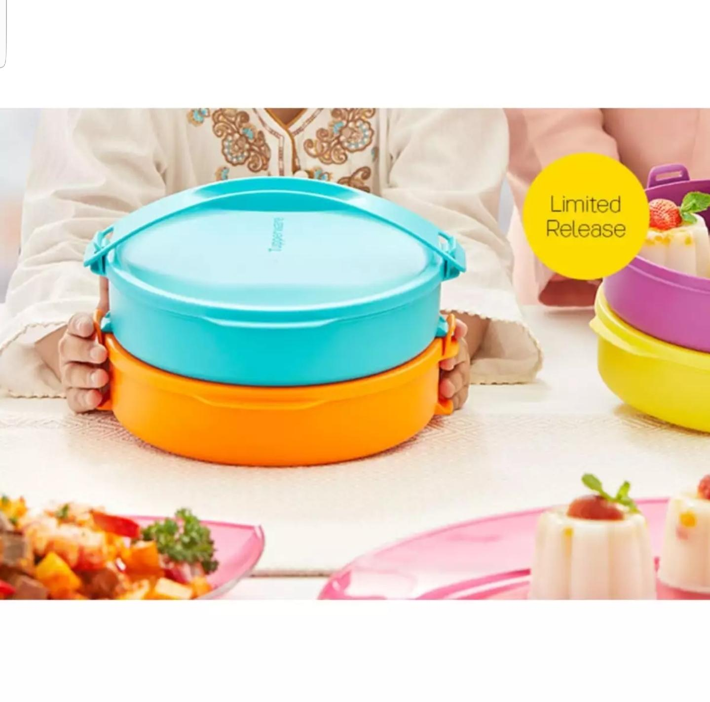 Buy Sell Cheapest Tupperware New Click Best Quality Product Deals To Go Rantang 4 Susun Round Orange Tosca