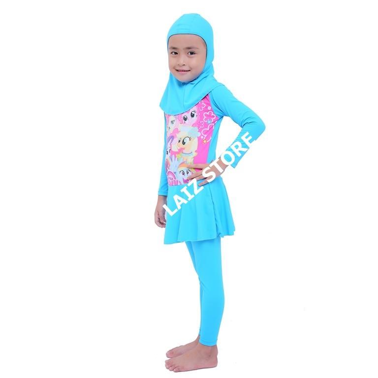 Laiz Baju Renang Anak Muslimah Perempuan Usia SD 6e6d36a56e