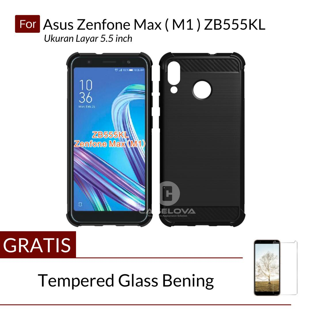 Caselova Corner Protection Cushion Premium Carbon Shockproof TPU Case For Asus Zenfone Max M1 ZB555