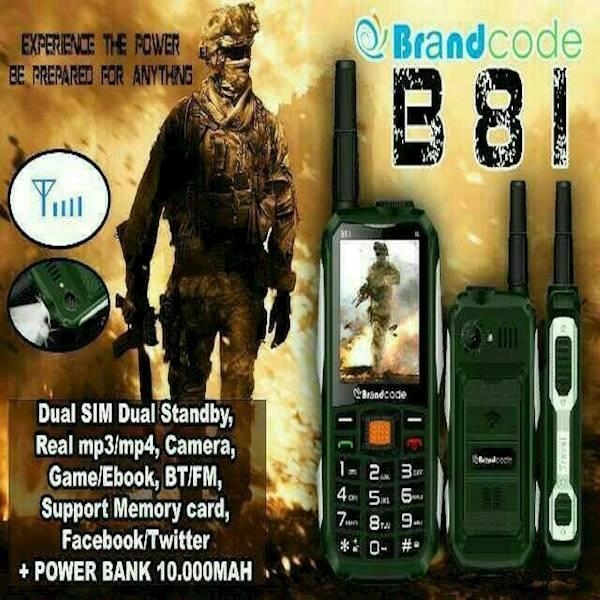 Hp GUNUNG Brandcode B81  Hp Power Bank  Hp GSM