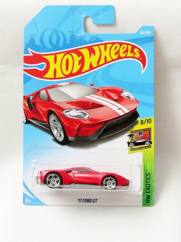 Hot Wheels '17 Ford GT - merah
