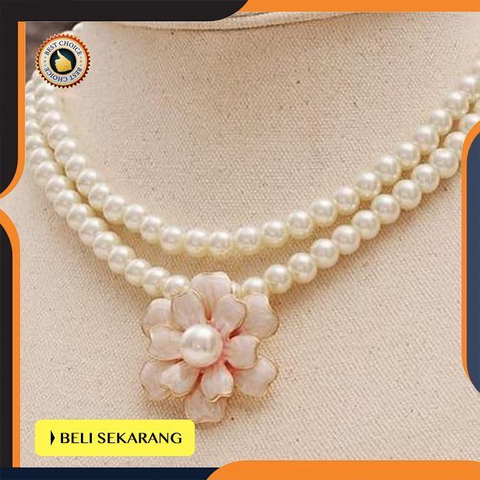 Jual Pearl Statement Necklace Kalung Mutiara Korea Fashion Aksesoris