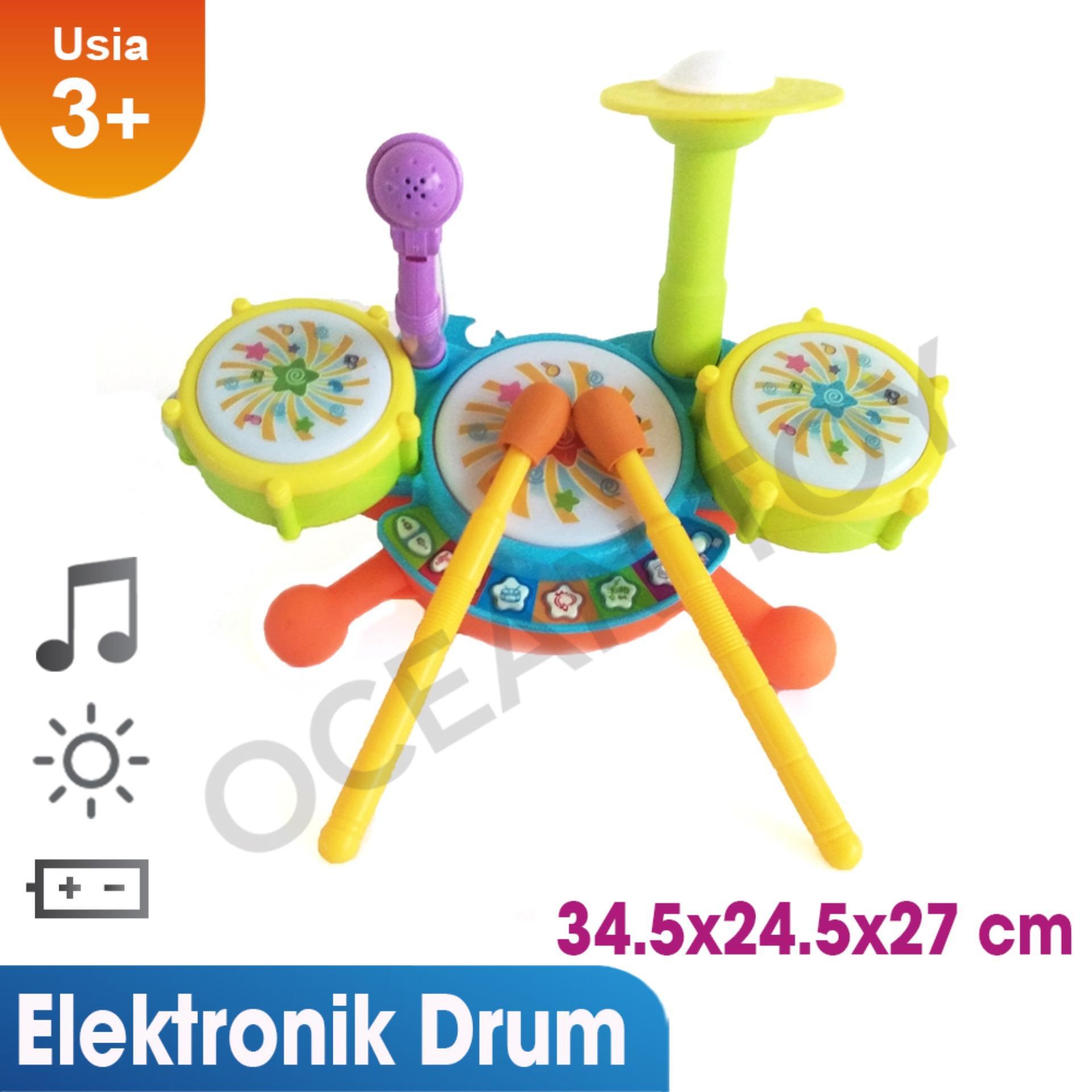 Ocean Toy Jazz Drum Set Mainan Musikal Anak - 6623A