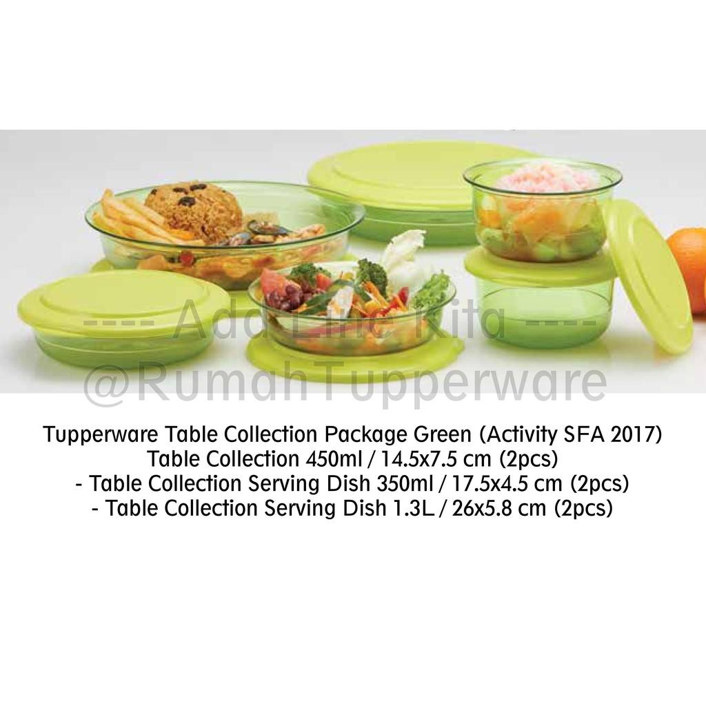 Tupperware Table Collection Package Green (Activity SFA 2017)