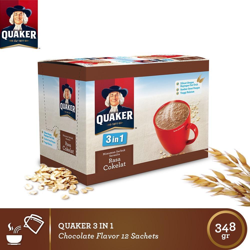 Quaker 3 In 1 Chocolate Box 12s