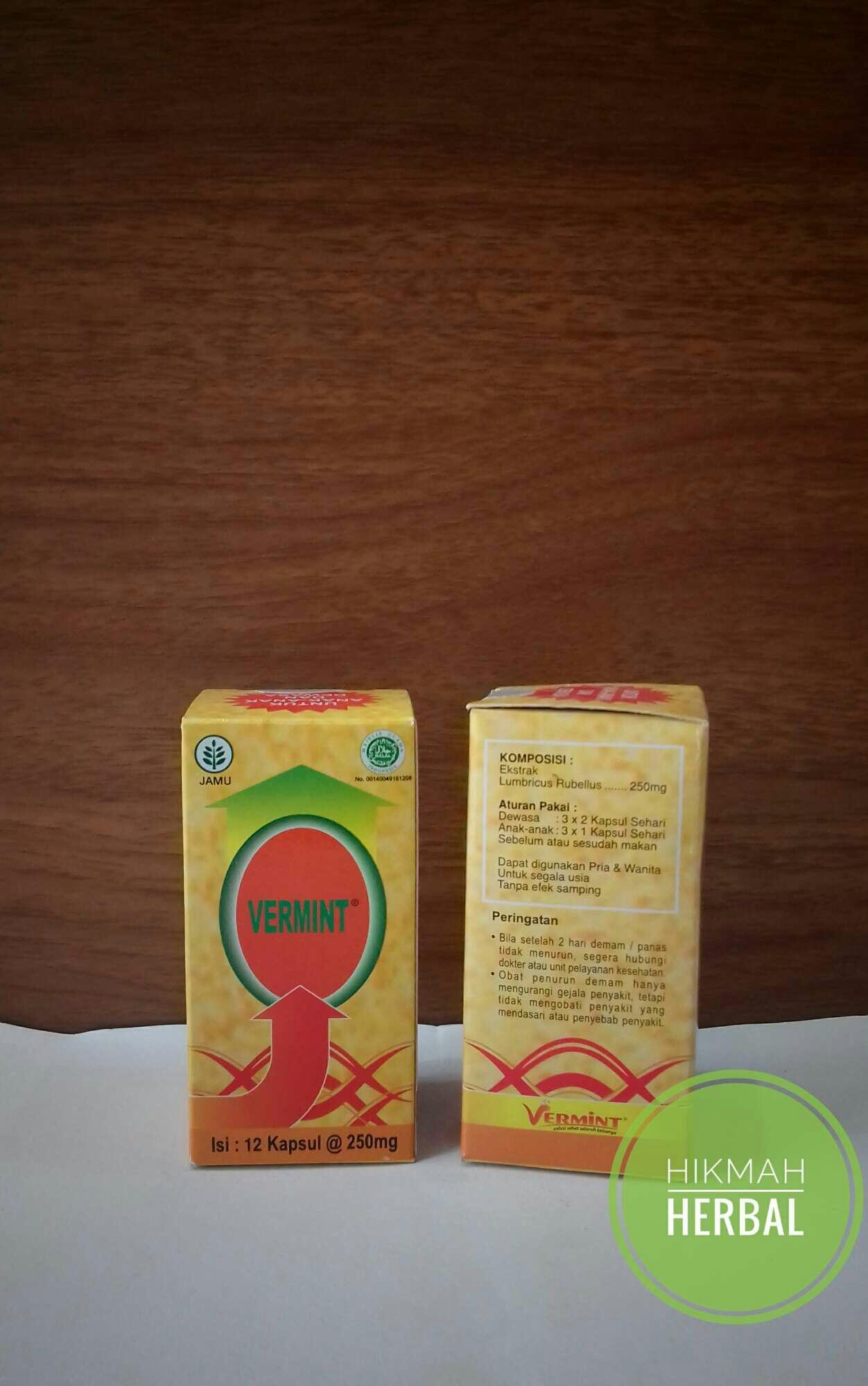 Buy Sell Cheapest Vermint 30kapsul Best Quality Product Deals Kapsul Isi 30 Vermint12 Kpl