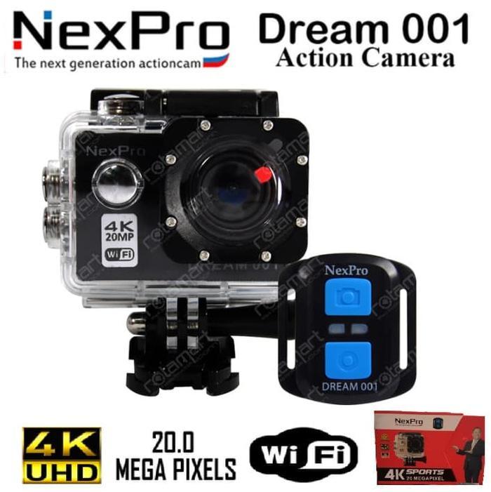 Action Camera Nexpro Dream 001 4K 20Mp Wifi GARANSI