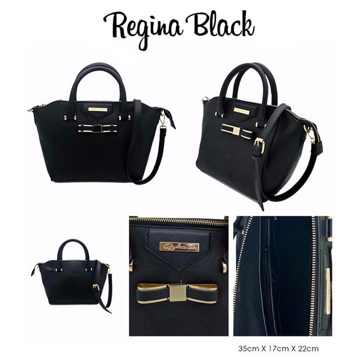 Handbags - Gykaco Handbag Regina - Black - ready stock
