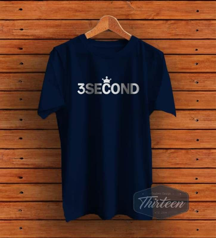 Kaos Baju Rep 3 Second / 3Second / Three second Kualitas Distro - Navy
