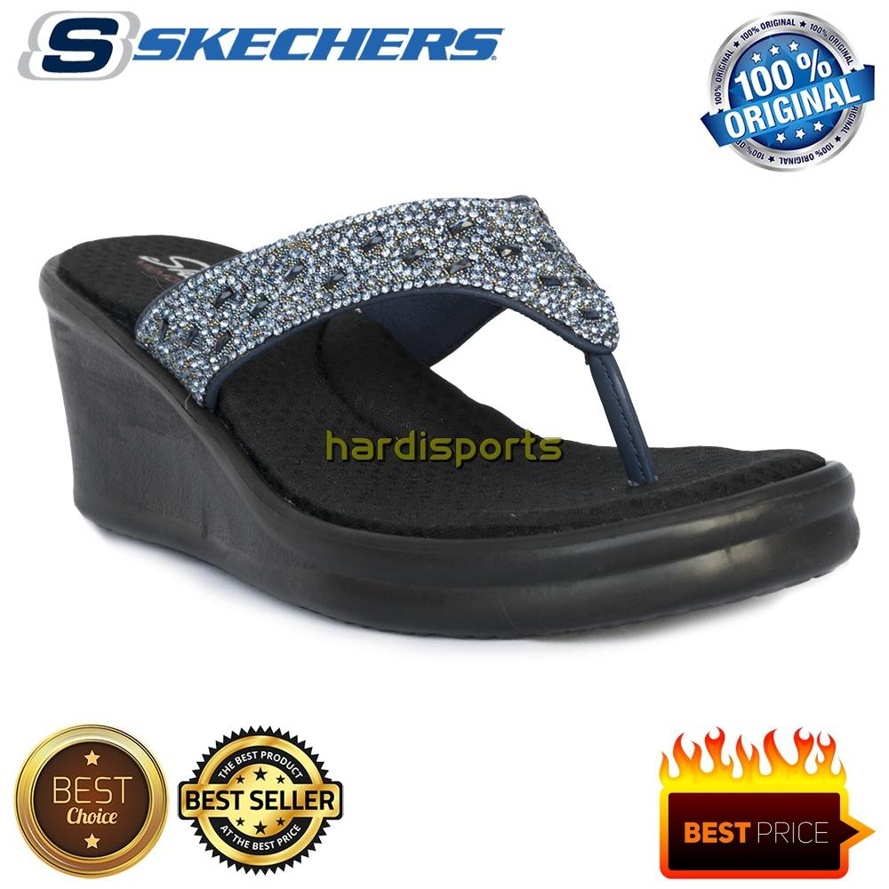 Sandal Wanita Skechers Rumblers Gleaming Ray 88888170-NVY - Navy 56fe8c7ac7