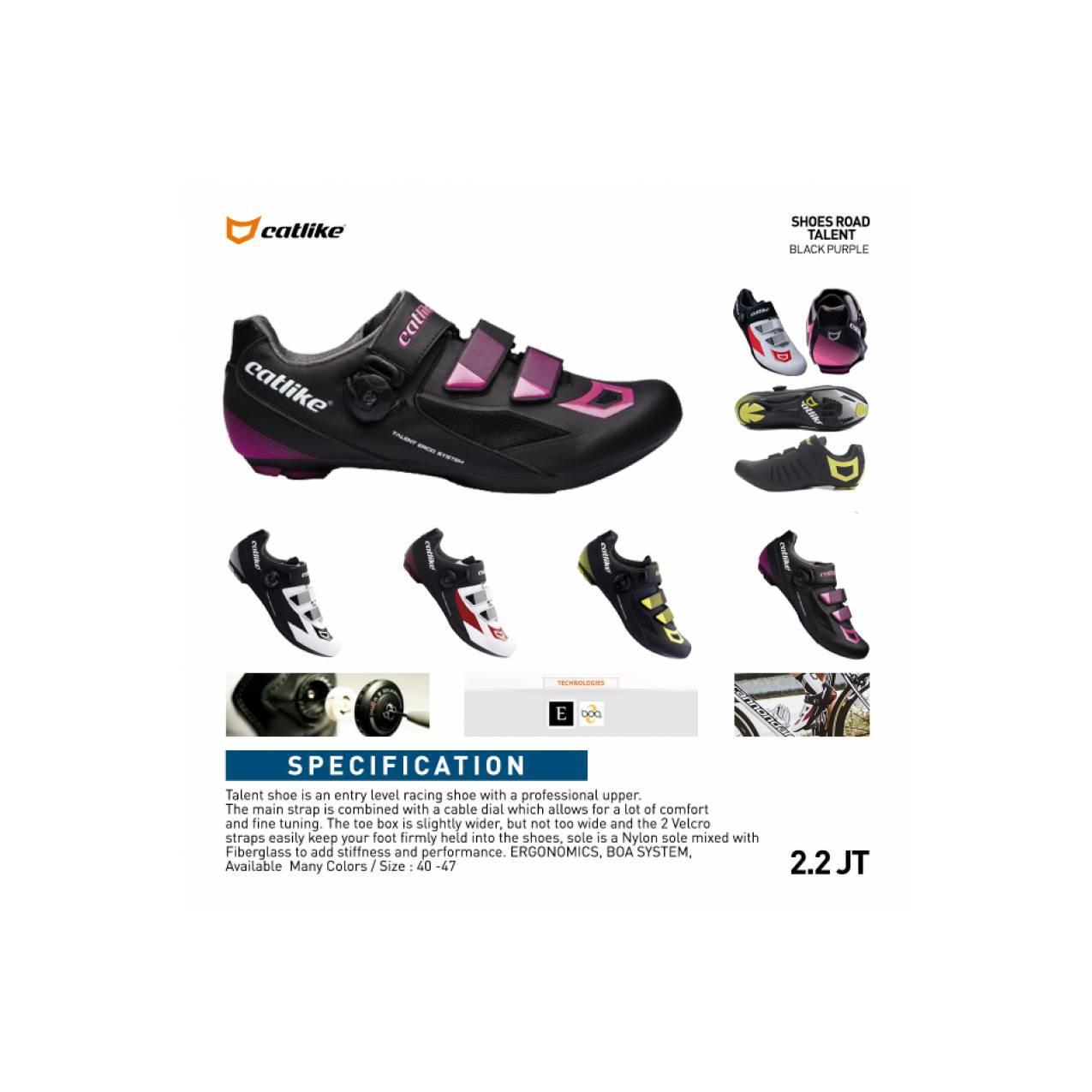 Shoes Catlike Talent Multi-Cleat Road & Mtb BLACK PURPLE Sepatu cleat