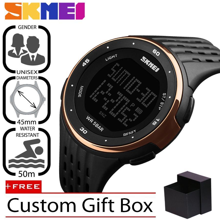 SKMEI Original 1219 Jam Tangan Pria - Wanita Casual Sport Digital LED Silikon PU 45 mm - Anti Air 50 M Renang - Water Resistant Watches