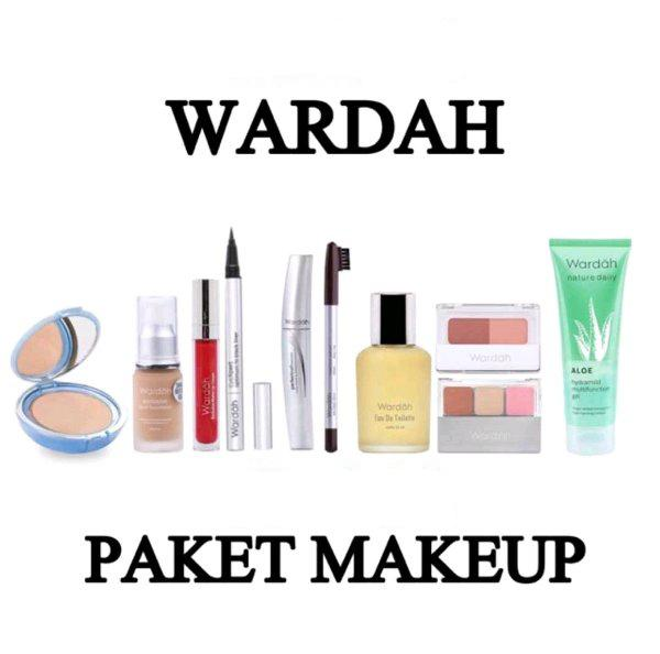 WARDAH PAKET MAKE UP 4 (-Twc Lightening (bedak)   -Foundation   -Exclusive Liquid Lip cream Matte   -EDT Parfum   -Aloevera Gel   -Pensil Alis   -Eyeliner Spidol   -Maskara   -Eyeshadow   -Blush On)