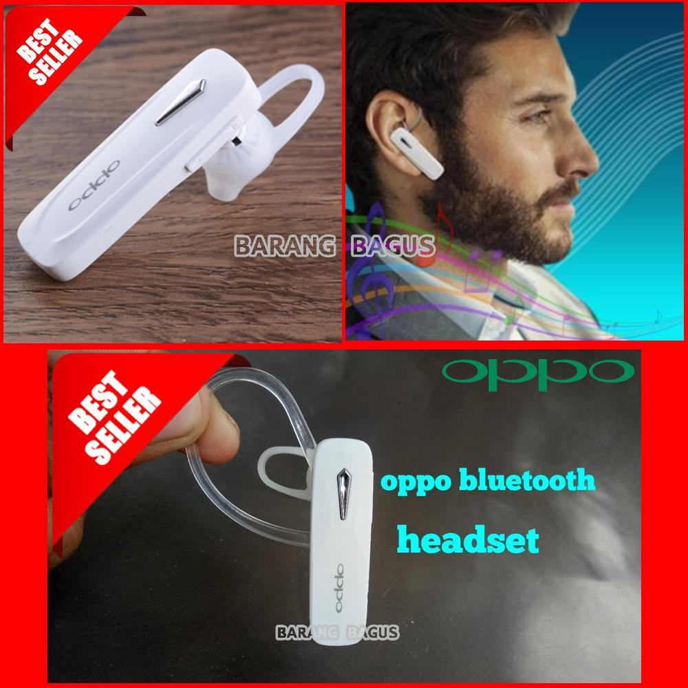 Universal Handsfree / Headset Bluetooth Stereo For OPPO - Putih[ barang bagus ]