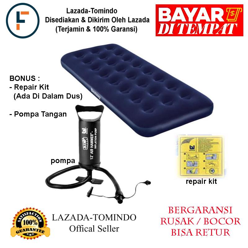 Bestway Kasur Angin Single Dan Pompa Tangan + Repair Kit / Kasur / Kasur Angin / Mainan Anak / Tomindo By Tomindo.