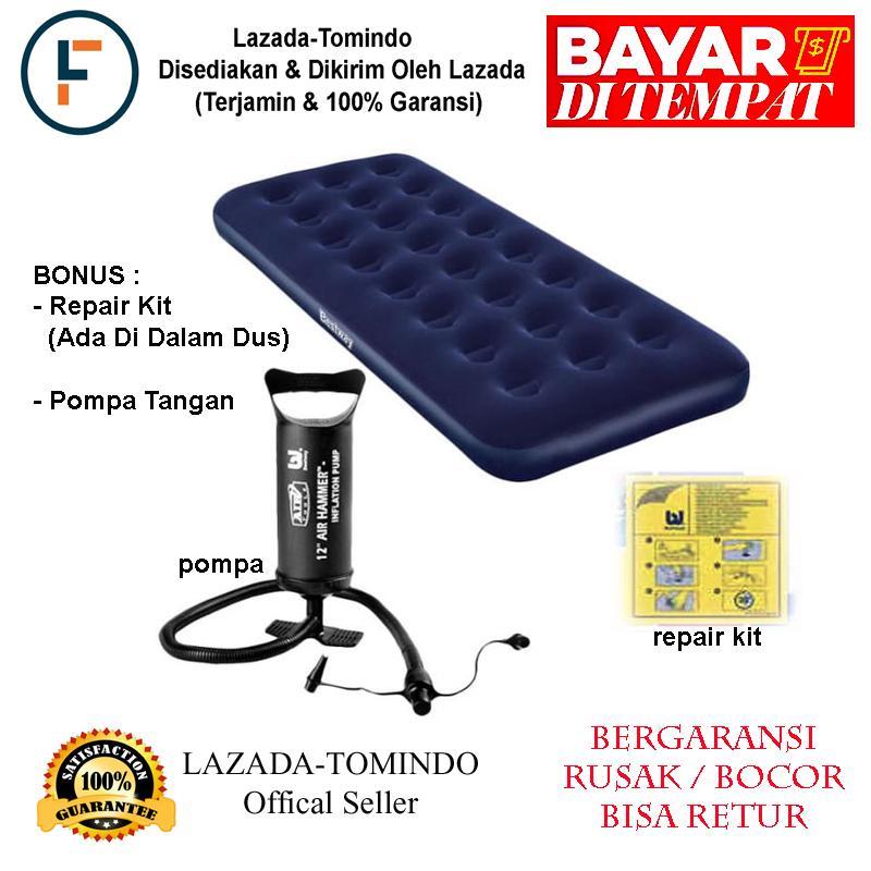Bestway Kasur Angin Single Dan Pompa Tangan + Repair Kit / Kasur / Kasur Angin / Mainan Anak / Tomindo By Tomindo