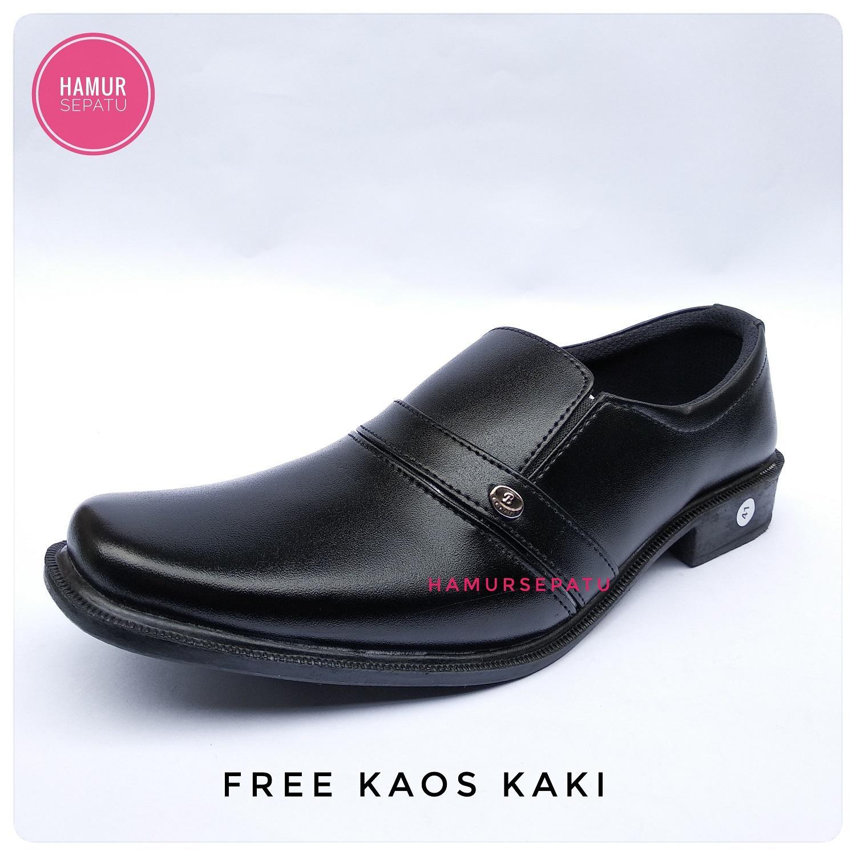 hamursepatu / Sepatu Pantofel / Sepatu pantofel Pria / Sepatu Pantopel / Sepatu kerja / sepatu formal / sepatu kantor / sepatu pantofel hitam / pantofel muurah / kode B 04 hitam Free Kaos Kaki