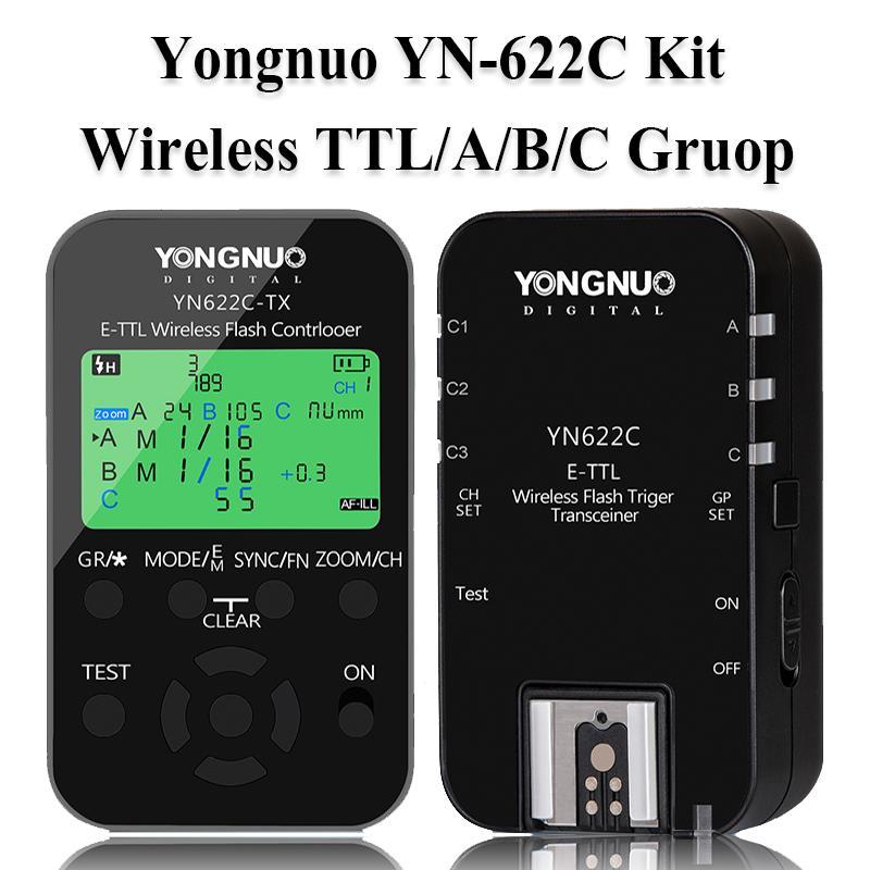 Yongnuo YN-622C Kit TTL Nirkabel HSS Pemicu Flash untuk Canon 1200D 1100D 1000D 800D 750D 650D 600D 550D 500D 5D II