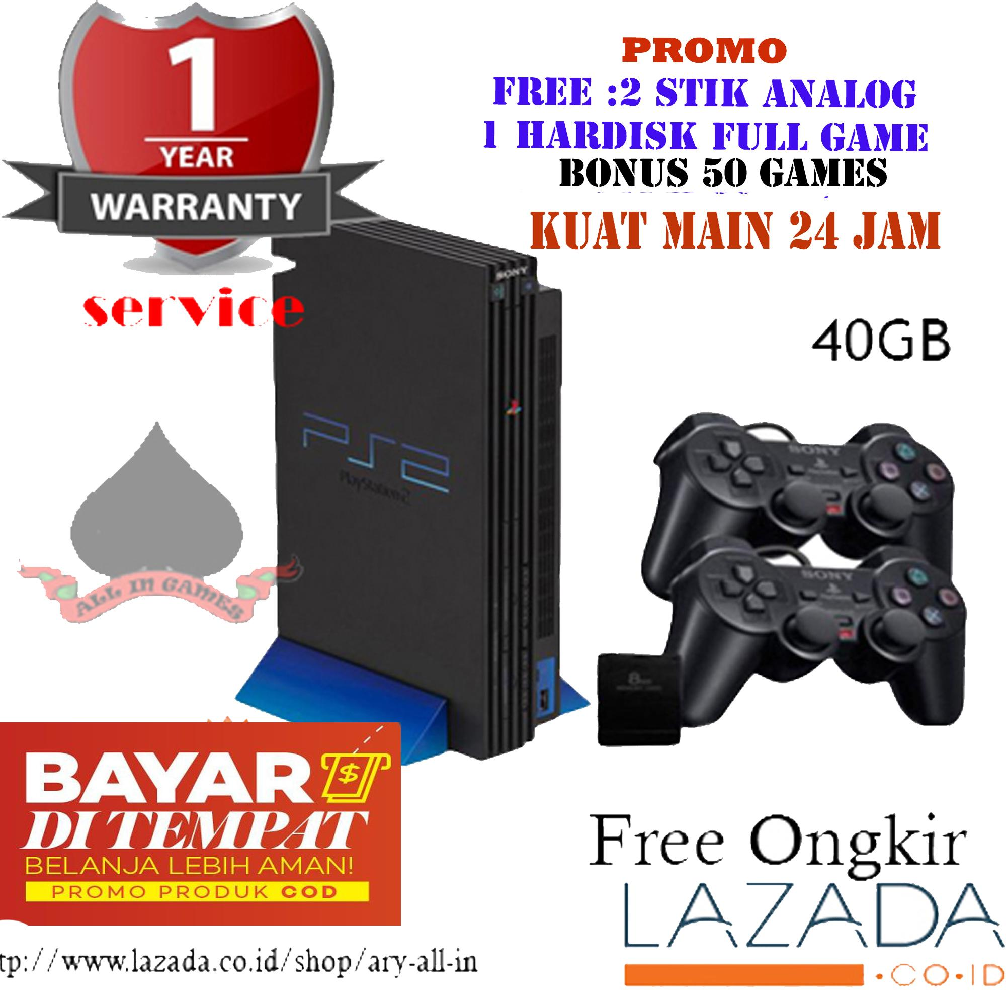 Ps2 Fat Harddisk isi 50Games + 2stick Elite