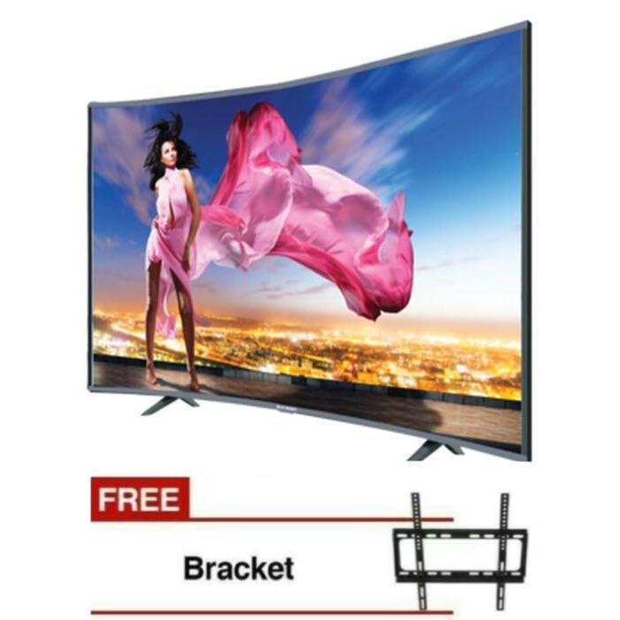 ICHIKO LED TV S5568 [55 Inch] Ultra HD 4K Curve +Bonus Bracket Dinding