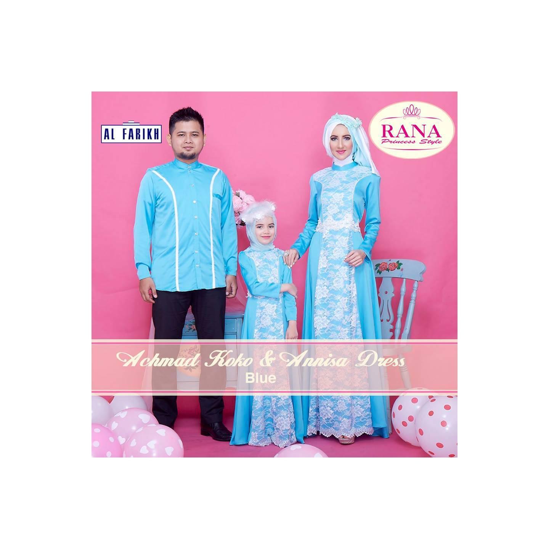 Rana Annisa Dress/Gamis Pesta/Baju Muslim Couple