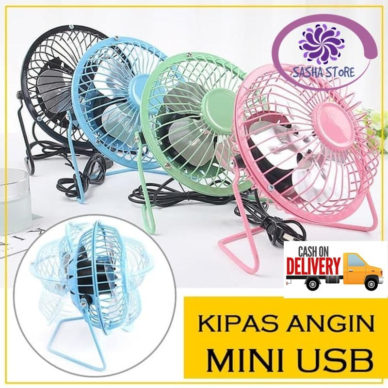 SS Kipas Angin Besi Mini USB Fan Portable Fan / Kipas Angin Mini / Portable Mini Fan / Kipas angin portable / Mini portable fan - Random Color