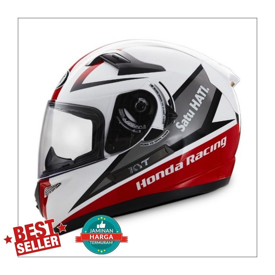 Honda Helm HRR Full Face KYT - Merah Putih, M