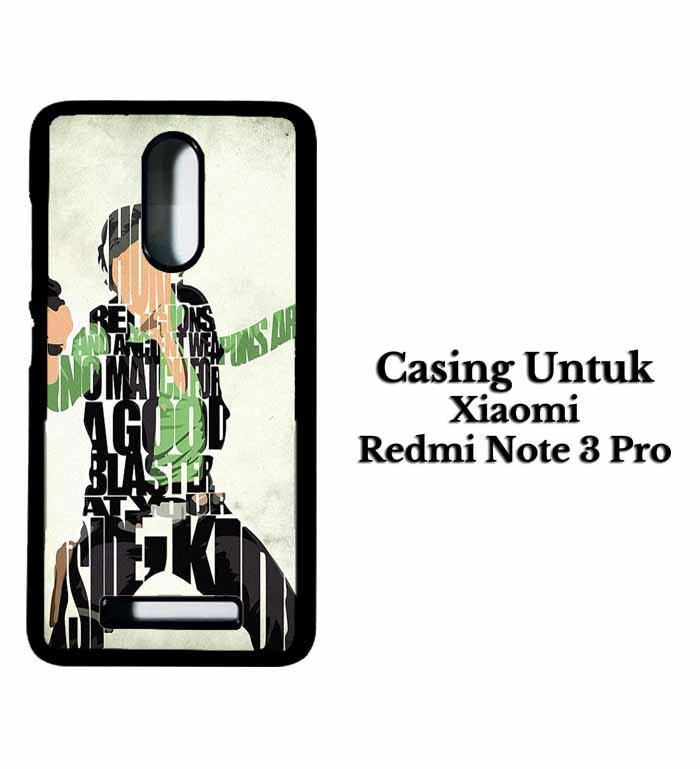 Casing XIAOMI REDMI NOTE 3 Han Solo Typography Hardcase Custom Case Se7enstores