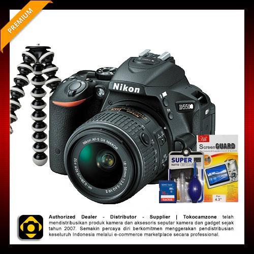 Nikon D5500 Kit with AF-P DX Nikkor 18-55mm F/3.5-5.6G VR - Paket Supernova