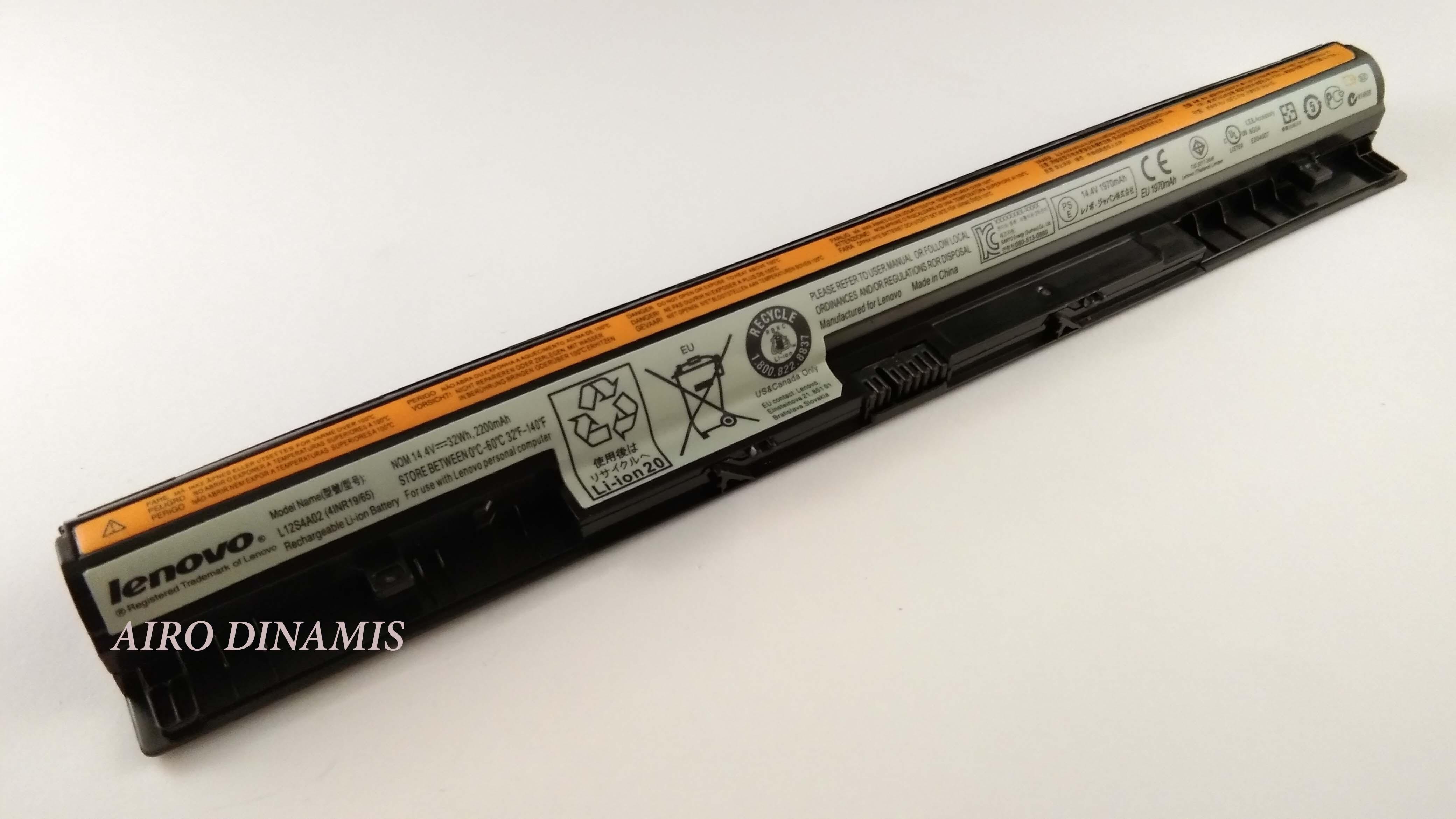 Baterai Laptop Original Lenovo IdeaPad Touch G400s G405s G500s G505s G40 G40-30 G40-45 G40-70 G40-80 G50-45 Z40-70 L12S4A02