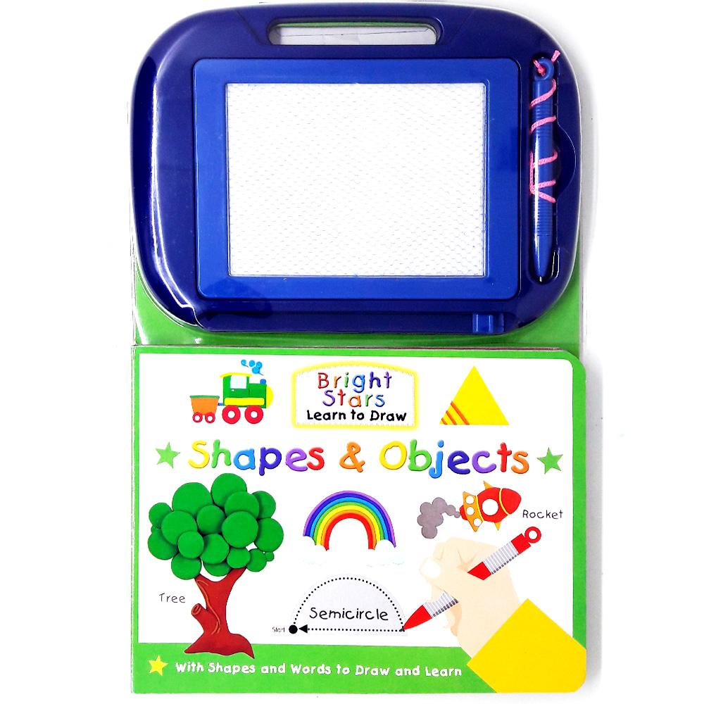 Genius Buku Anak Bright Stars Learn to Draw Shapes & Objects with Shapes and Words to