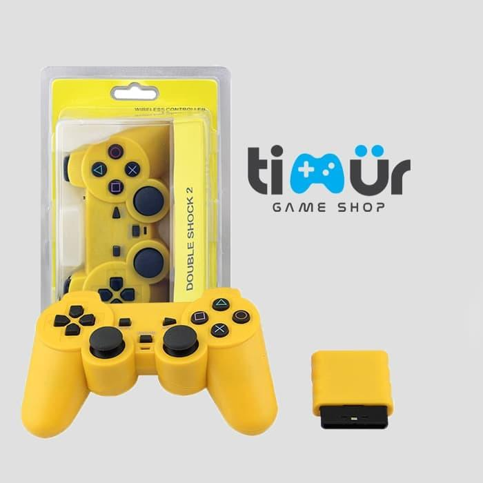 TERMURAH - Stik Stick PS2 Wireless Ori Original Pabrik Kuning