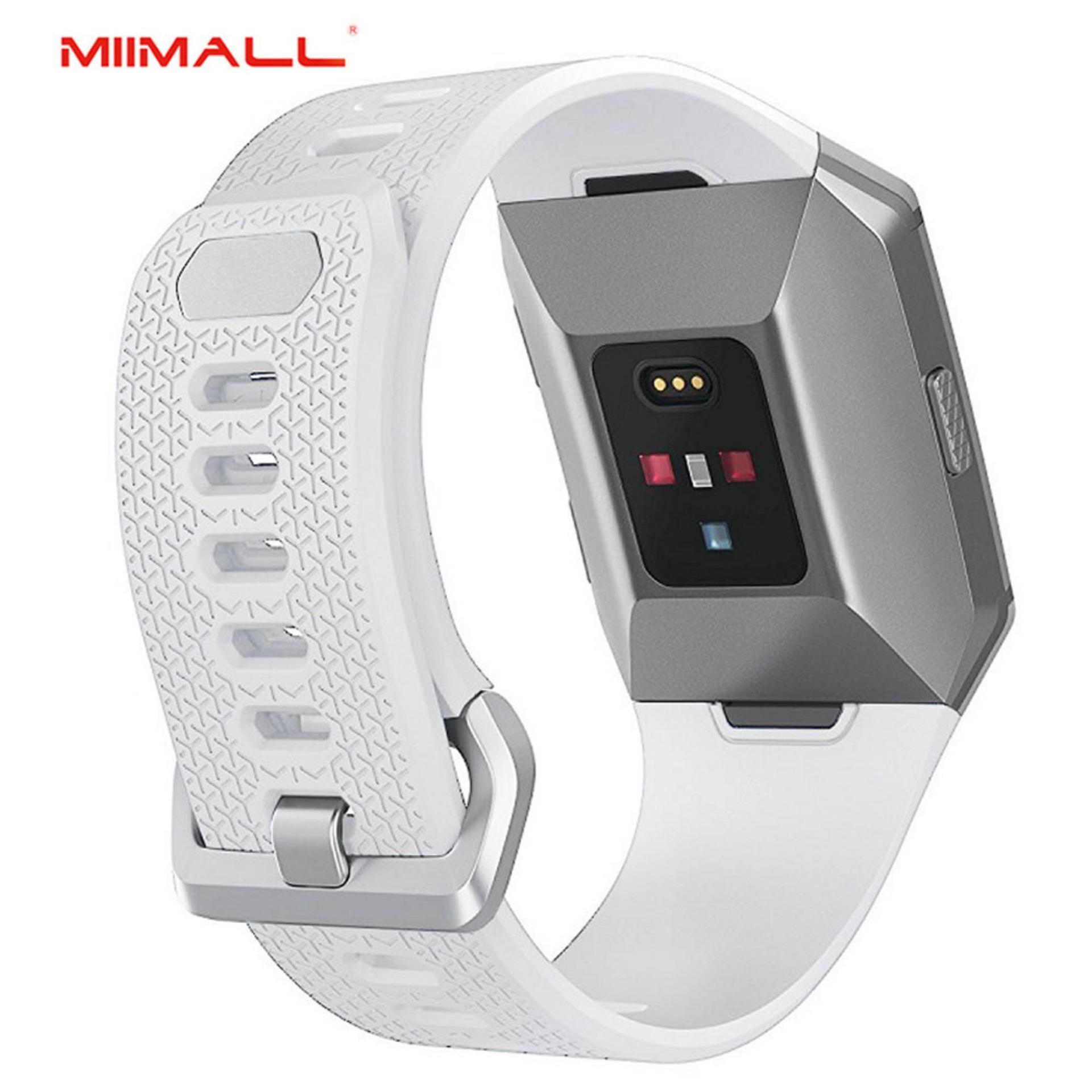 Miimall Lembut Silicone Strap Adjustable Replacement Sport Band Aksesoris untuk Ionic Smart Fitness Watch-Intl