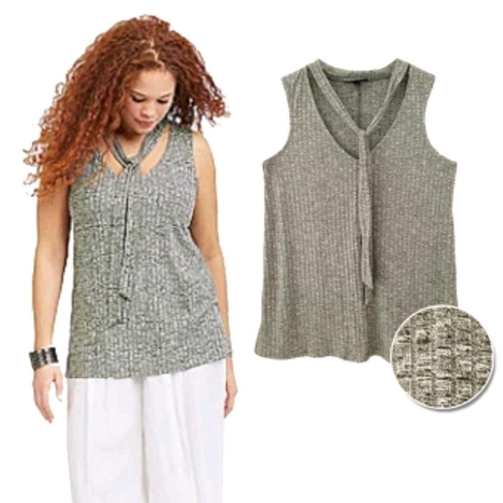 Toko Sikecil Atasan Wanita Big Size Jumbo L-4XL Blus Tanpa Lengan Sleeveless V-neck Blouse USA Branded ORIGINAL