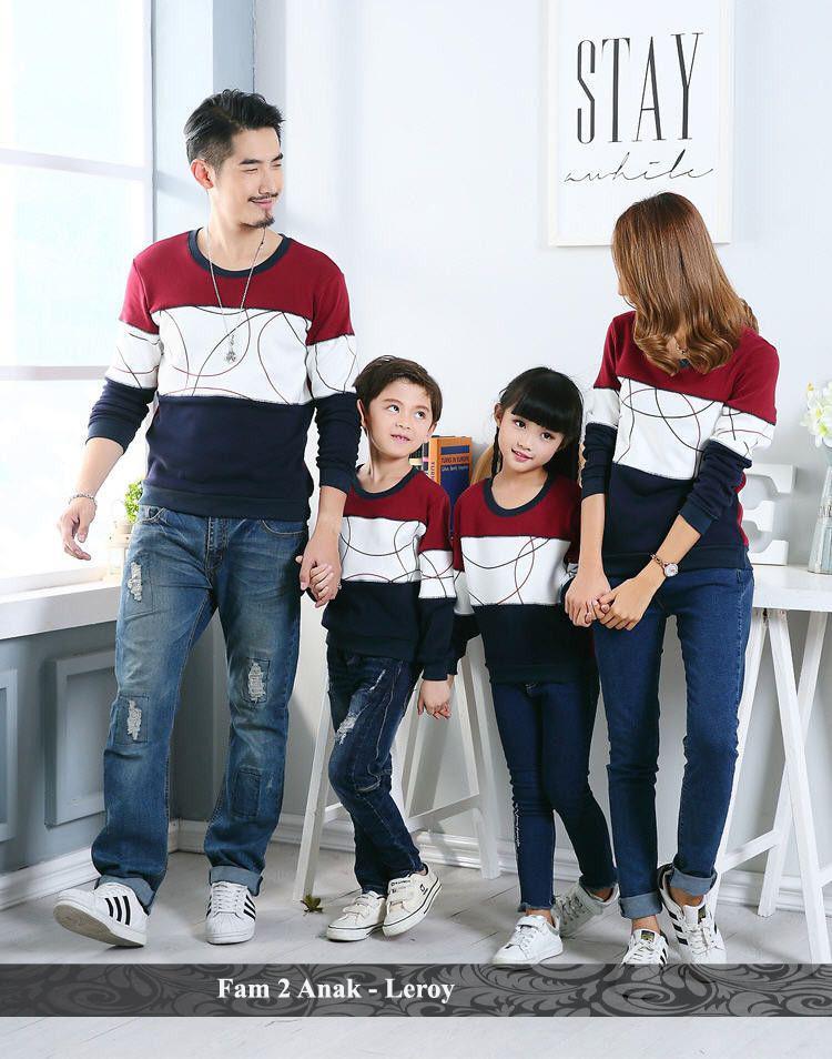 BajuCouple baju couple keluarga kaos pasangan murah Baju Keluarga 2 Anak - Leroy [hitam]