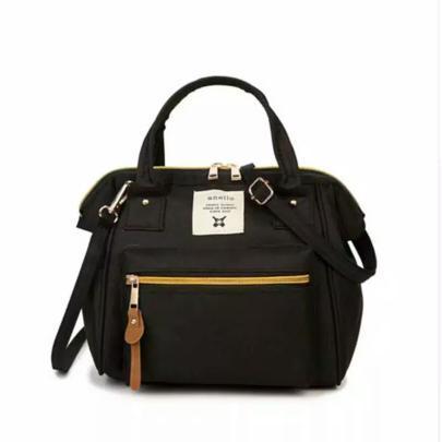 Tas Anello Selempang Ransel Backpack Small Mini Bag Import Tas Wanita - HITAM - EDW 027