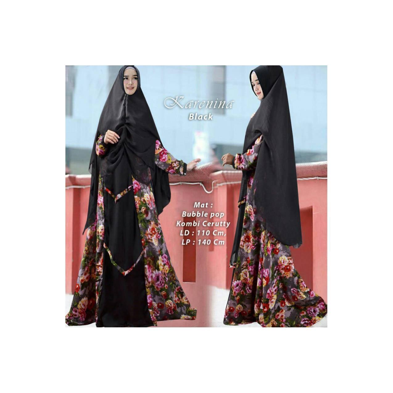 Baju Pengantin Muslimah 120271 GAMIS JUMBO SYARI KARENINA BLACK