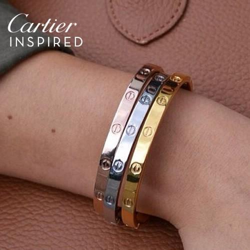 Gelang Fashion Cartier Inspired Bangles Harga 3Pcs JLR007