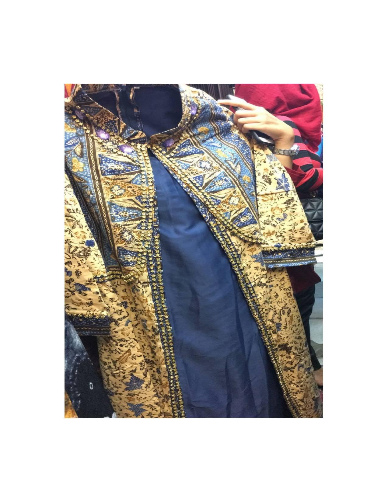 gamis panjang kain batik jupri full payet palembang original jumbo