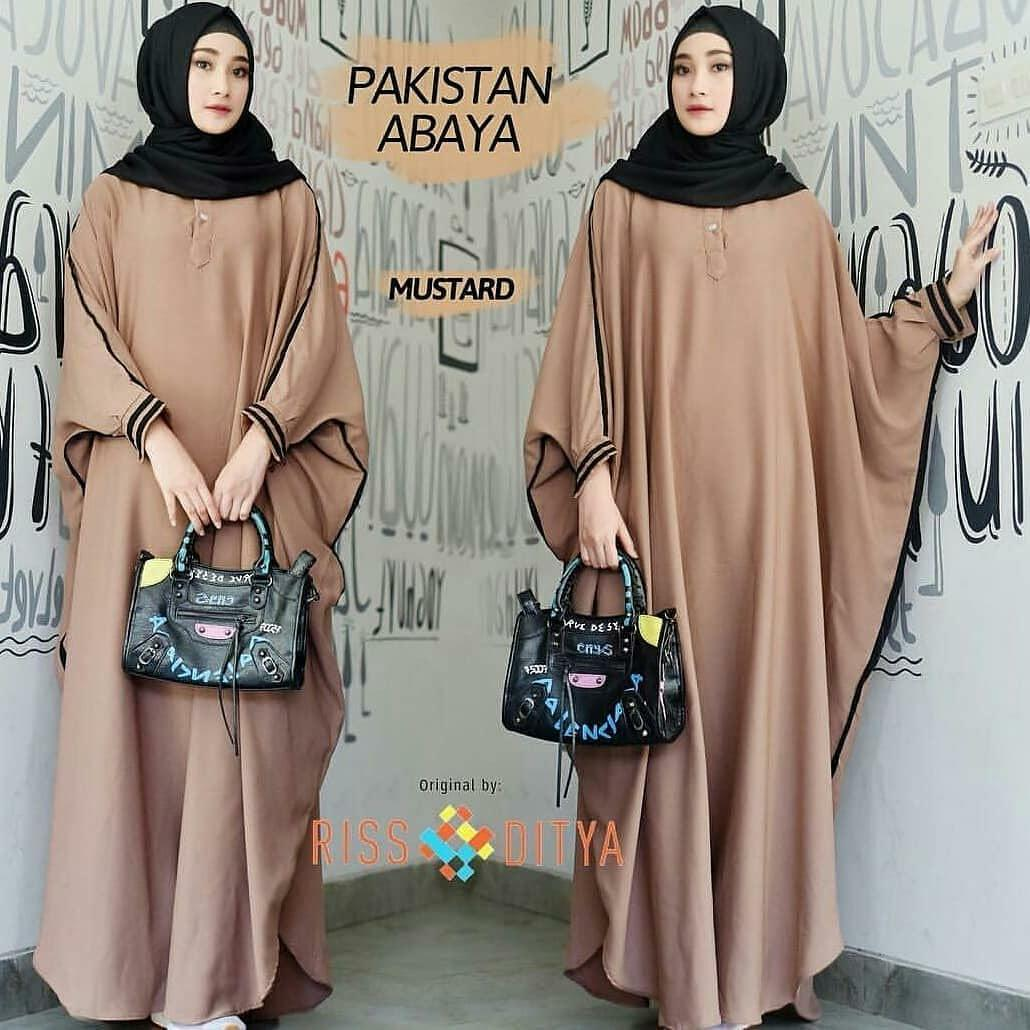 Baju Muslim Original Terbaru Pakistan Abaya Dress Gamis Muslim Panjang Pakaian Wanita Hijab Casual Maxy Trendy Gaun Modis