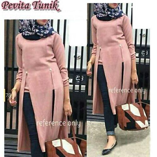 DoubleC Fashion Tunik Pevita Dusty