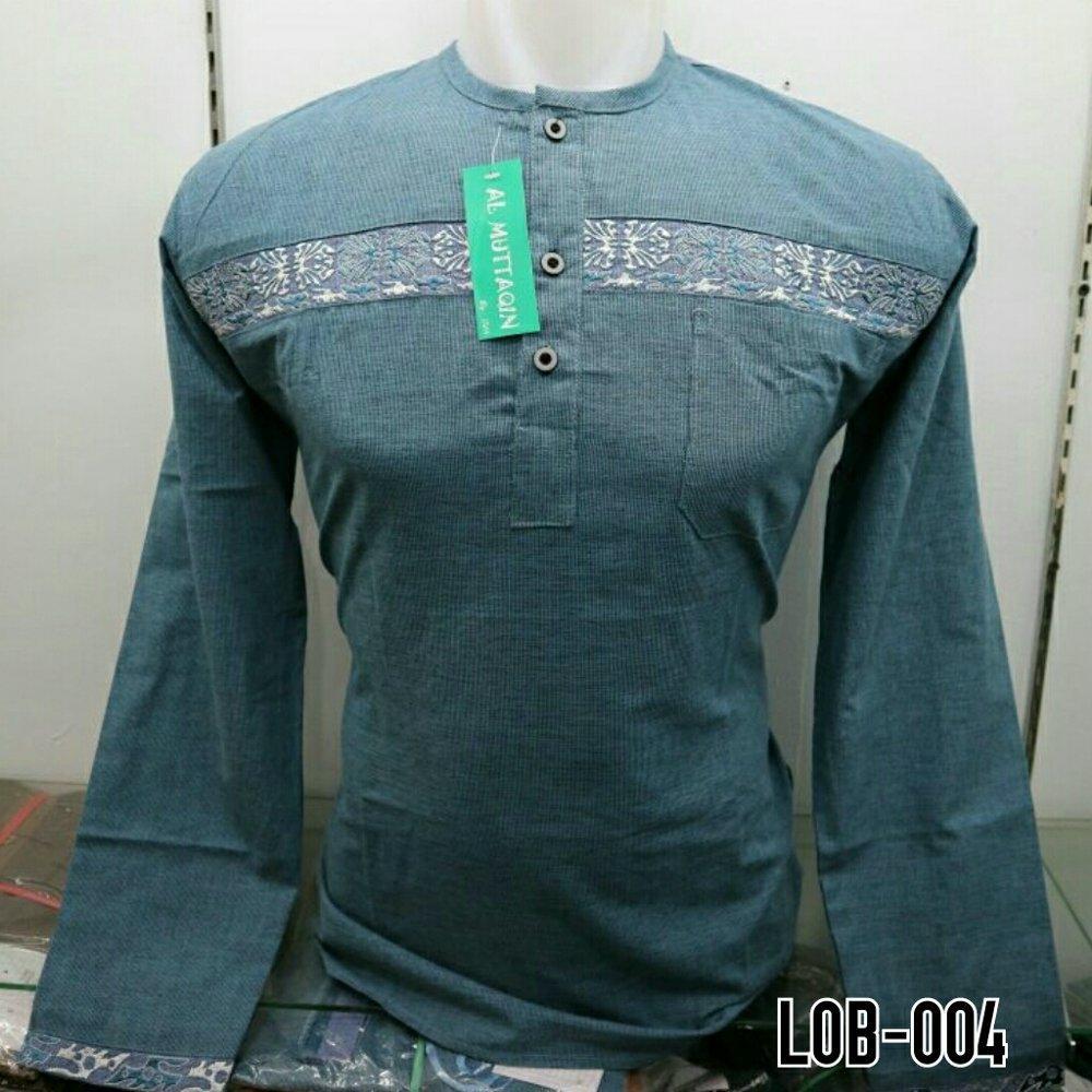 Baju Koko Muslim Pria Kemeja Koko Lengan Panjang Gamis Pria Bordir Gaul Al Muttaqin New Model LOB 004  di lapak Al Muttaqin Collection produsenbajukoko