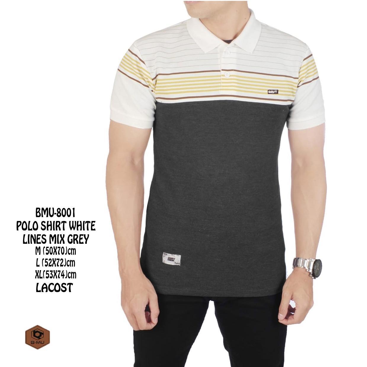 the most/Kaos Polo shirt kerah / sanghai Pria casual Kaos Polo Kaos Adem Kaos Pria Tshirt Pria Kaos Distro Bandung Kaos Distro Kaos keren Putih meraH navy Combinasi 3 Warna